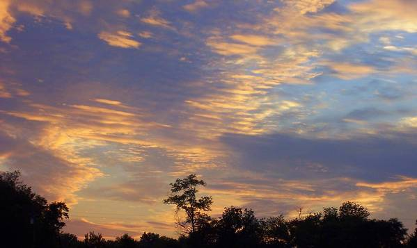 Sunset Art Print featuring the print Tennessee Sunset by Beverly Baxter