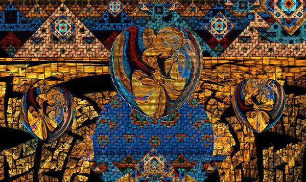 Phil Sadler Art Print featuring the digital art Tesserae 5 by Phil Sadler