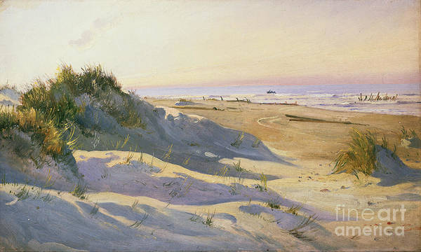 Beach Art Print featuring the painting The Dunes Sonderstrand Skagen by Holgar Drachman