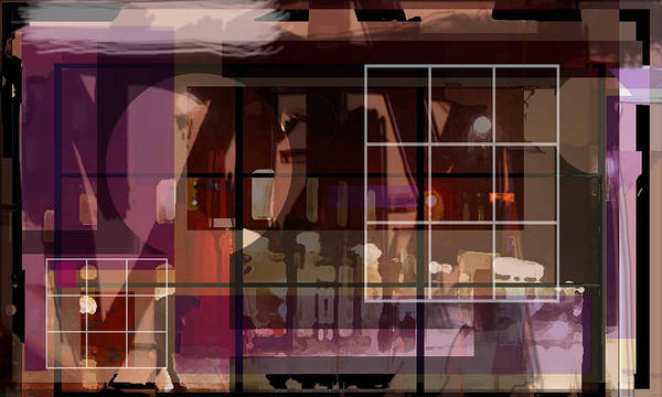 Abstract Vision Images Art Print featuring the digital art Through A Window by DC Campbell