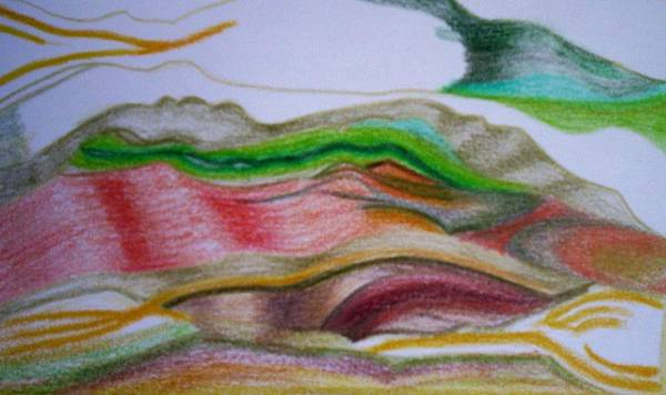 Abstract Art Print featuring the painting Valley Stream by Suzanne Udell Levinger