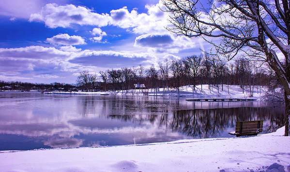 Park Art Print featuring the photograph Winter In The Park by By Way of Karma