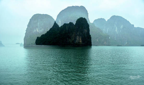 Halong Bay Art Print featuring the photograph Halong Bay Mountains, Vietnam by Madeline Ellis