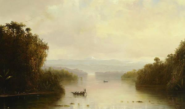 Norton Bush Art Print featuring the painting Tropical Landscape, 1885 by Norton Bush