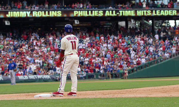 Citizens Bank Park Art Print featuring the photograph Jimmy Rollins by Mitchell Leff