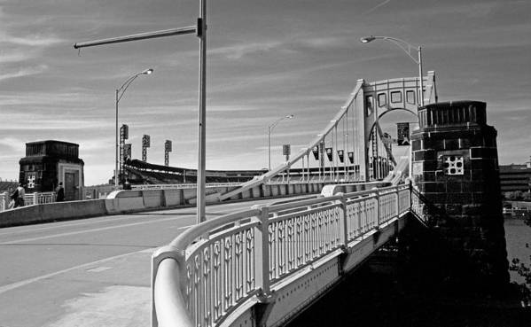 Allegheny Print featuring the photograph Pittsburgh - Roberto Clemente Bridge by Frank Romeo