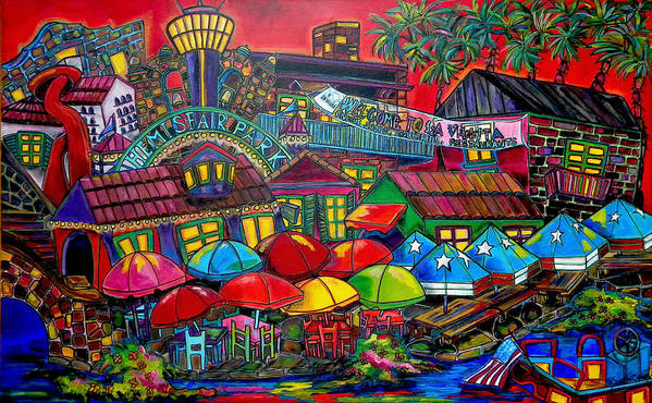 San Antonio Art Print featuring the painting Playing Tourist by Patti Schermerhorn