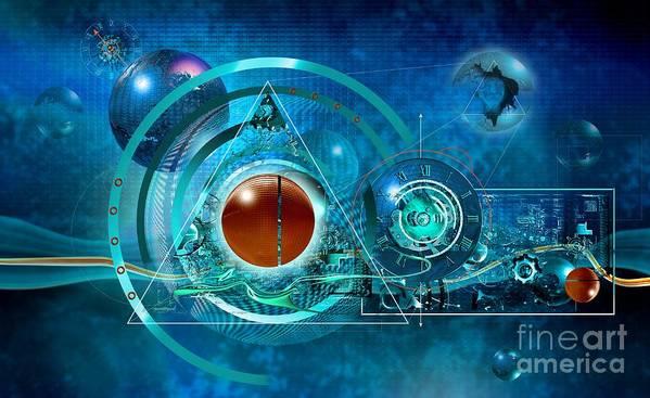 Universe Art Print featuring the digital art Digital Genesis by Franziskus Pfleghart