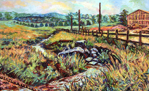 Landscape Paintings Art Print featuring the painting Stroubles Creek by Kendall Kessler