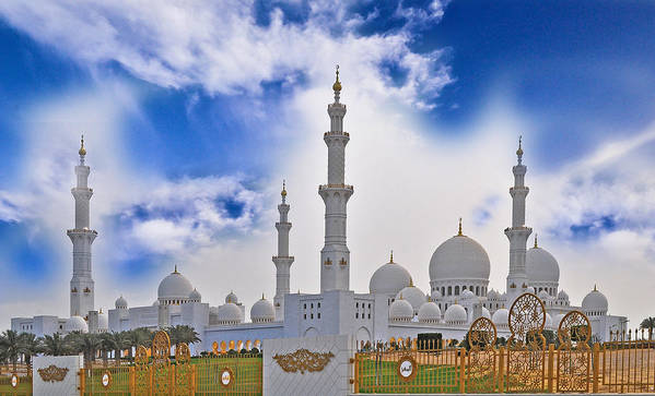 Grand Mosque Art Print featuring the photograph Grand Mosque by Anusha Hewage