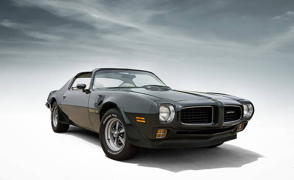Firebird Art Print featuring the digital art '73 Trans Am by Douglas Pittman