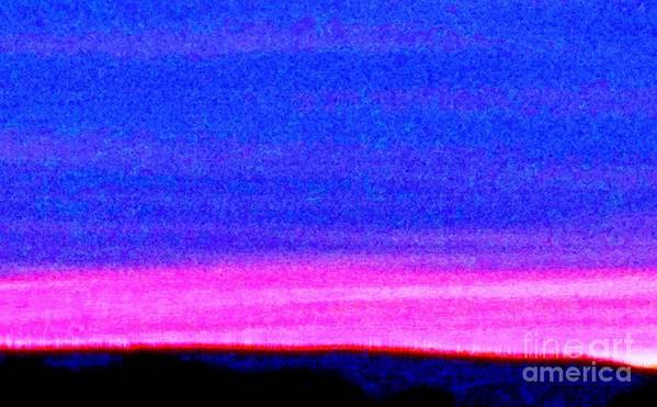Abstract Art Print featuring the photograph Abstract Landscape by Eric Schiabor