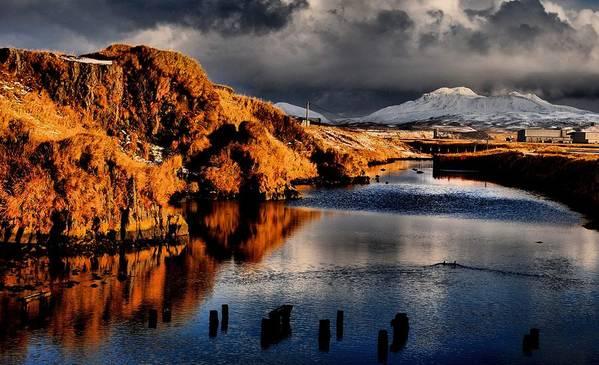Alaska Art Print featuring the photograph Alaska Sunset by DH Visions Photography