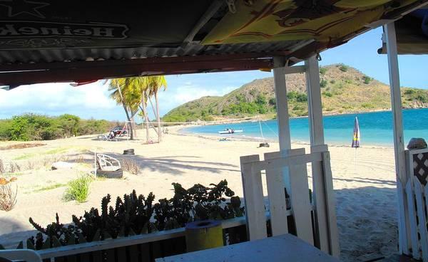 St Kitts Art Print featuring the photograph Beach Bar In January by Ian MacDonald