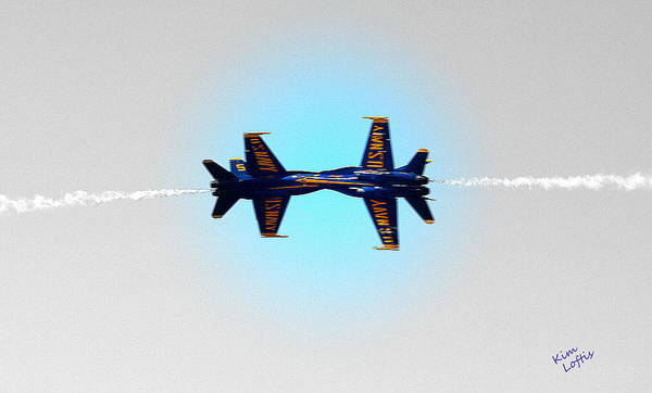 Air Show Art Print featuring the photograph Blue Angels by Kim Loftis