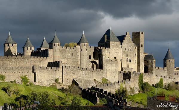 Carcassonne Art Print featuring the photograph Carcassonne Stormy Skies by Robert Lacy
