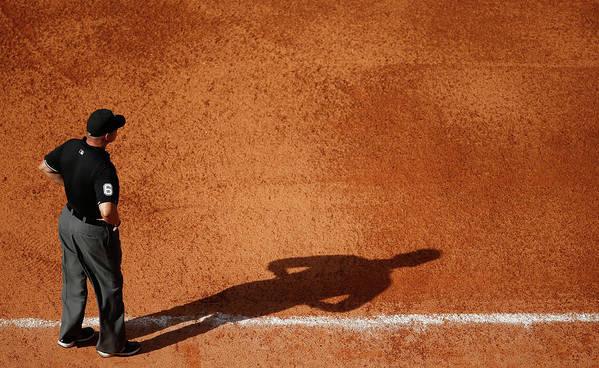 American League Baseball Art Print featuring the photograph Chicago White Sox V Houston Astros by Scott Halleran