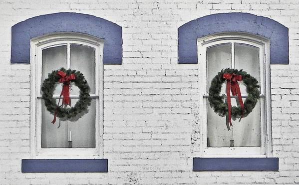 Christmas Art Print featuring the photograph Christmas Wreaths by Chris Berry