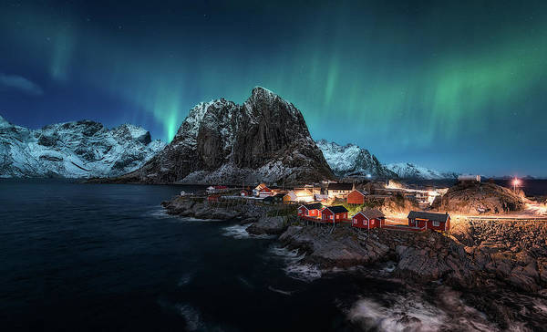 Lofoten Art Print featuring the photograph Dancing Over Hamnoy by Javier De La