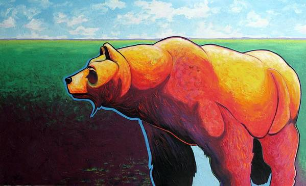 Grizzly Bear Art Print featuring the painting In His Prime by Joe Triano