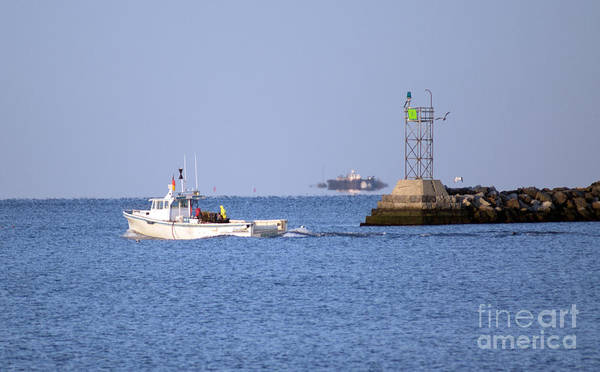 Boat Art Print featuring the photograph Into The Blue by Joe Geraci