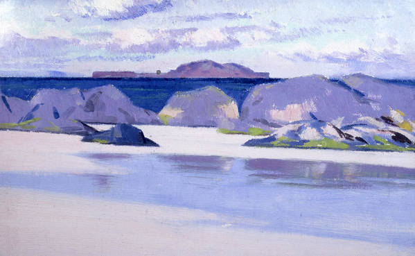 Purple Art Print featuring the painting Low Tide Iona by Francis Campbell Boileau Cadell