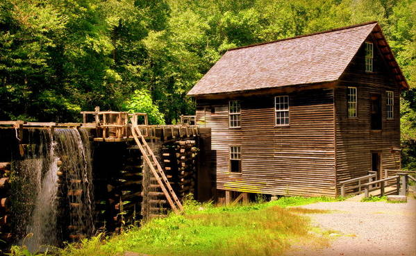 Mingus Mill Art Print featuring the photograph Mingus Mill by Karen Wiles