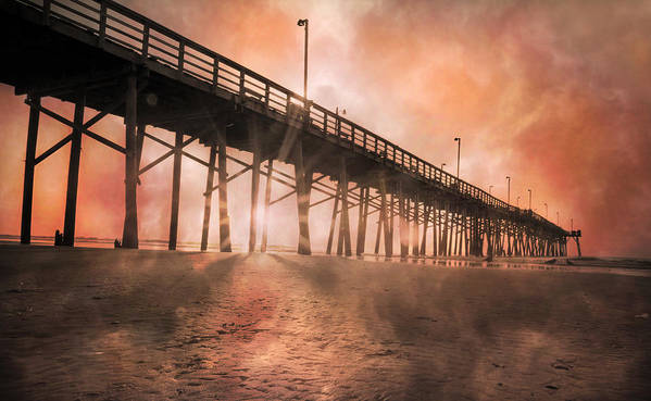 Topsail Art Print featuring the photograph Misty Sunrise by Betsy Knapp
