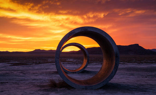 Sun Tunnels Art Print featuring the photograph Sun Tunnels by Peter Irwindale