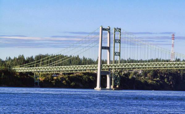Tacoma Narrows Bridge Framed Prints Art Print featuring the photograph Tacoma Narows Bridge 54 by Ron Roberts