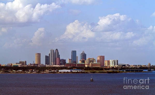 Caribbean Art Print featuring the photograph Tampa Cityscape by Ken Frischkorn