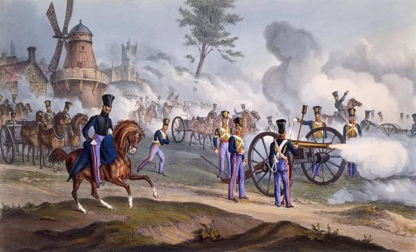 British Royal Horse Artillery Art Print featuring the drawing The British Royal Horse Artillery - by English School