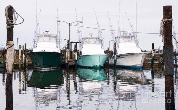 North Carolina Art Print featuring the photograph Triple Pleasure - Outer Banks by Dan Carmichael