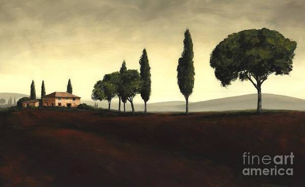 Tuscany Landscape Art Print featuring the painting Tuscan Style by Michael Swanson