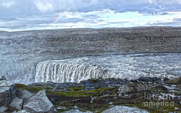 Detifoss Art Print featuring the photograph Detifoss Waterfall In Iceland - 01 by Gregory Dyer