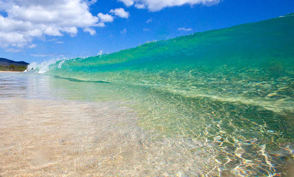 Art Print featuring the photograph Makena Wave by James Roemmling