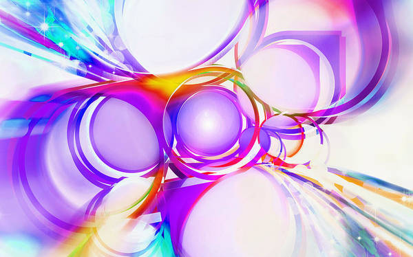 Rainbow Art Print featuring the painting Abstract Of Circle by Setsiri Silapasuwanchai