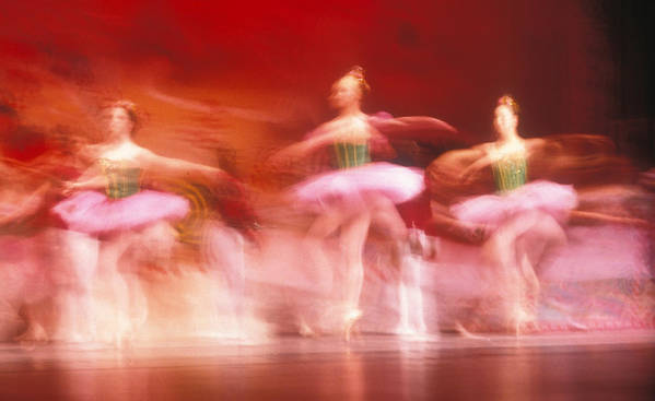 Ballet Dancers Print featuring the photograph Ballet Dancers by John Wong