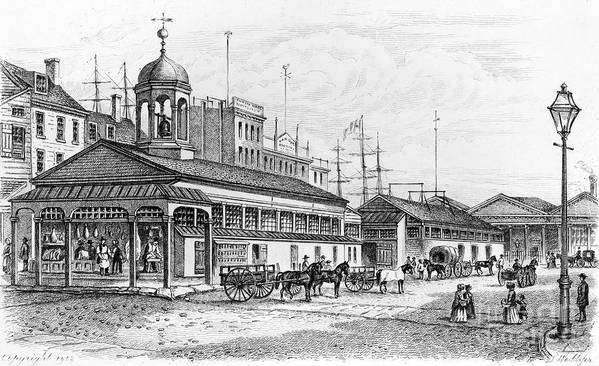 1850 Art Print featuring the photograph Catharine Market, 1850 by Granger