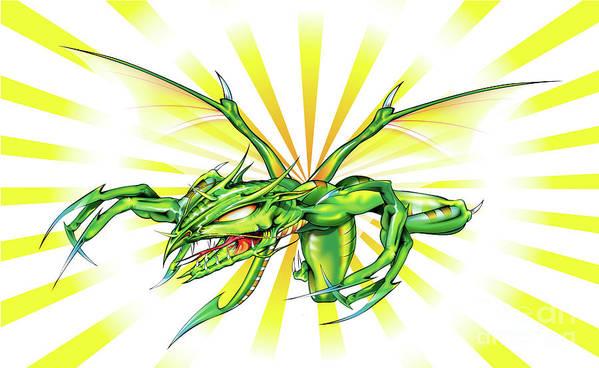 Dragon Art Print featuring the digital art Dragon by Brian Gibbs