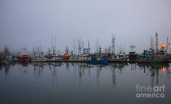 Fog Art Print featuring the photograph Encompossed By Fog by Kami McKeon