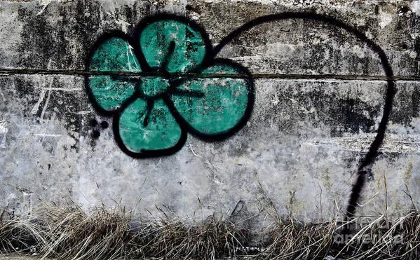 Urban. Flower Art Print featuring the photograph Flower On The Rocks by Elena Nosyreva