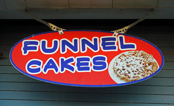 Fair Print featuring the photograph Funnel Cakes by Skip Willits