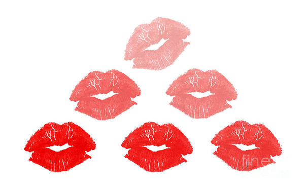 Lips Art Print featuring the photograph Kisses In Pyramid Shape by Blink Images