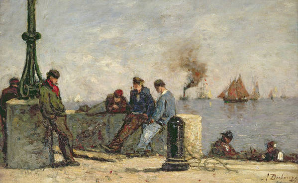Sailors (oil On Canvas) Art Print featuring the painting Sailors by Louis Alexandre Dubourg