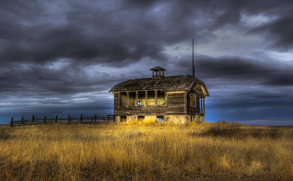 School Art Print featuring the photograph Spot On The School House by Jean Noren
