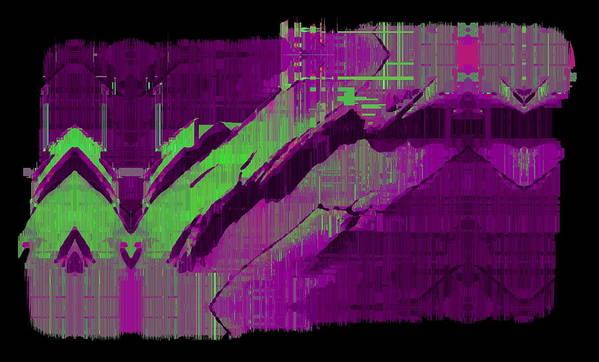 Abstract Art Print featuring the digital art The Drift by Tim Allen