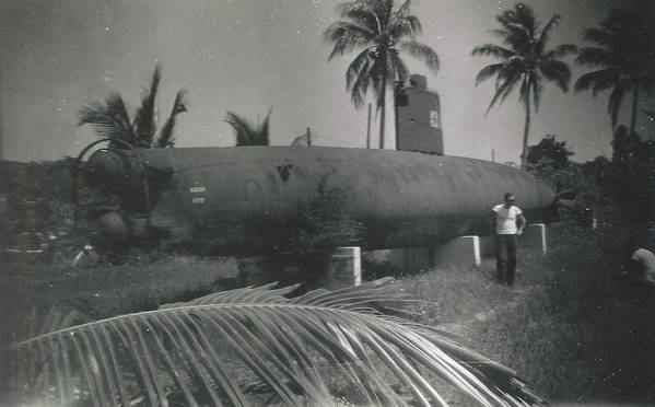 Digitized Art Print featuring the photograph Vintage Submarine by Alan Espasandin