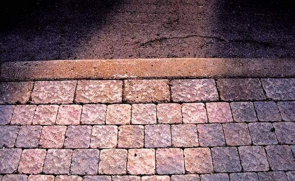Sidewalk Art Print featuring the photograph Brick Sidewalk 3 Wc by Lyle Crump