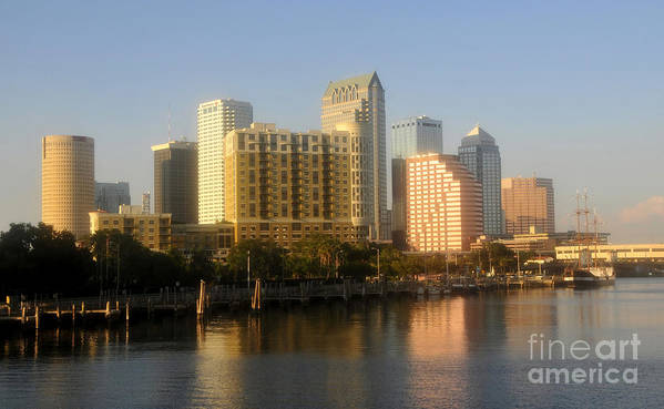 Tampa Florida Art Print featuring the photograph City By The Bay by David Lee Thompson